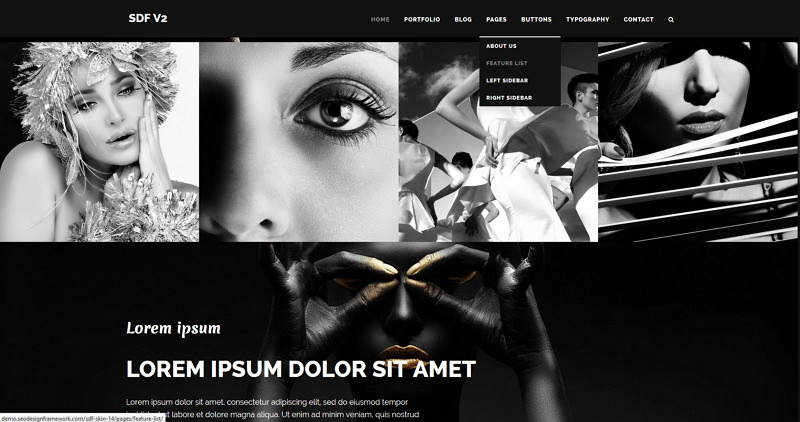 SEO Design Framework Noir Skin